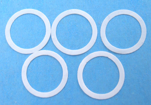 Photo of thin gaskets for bushings