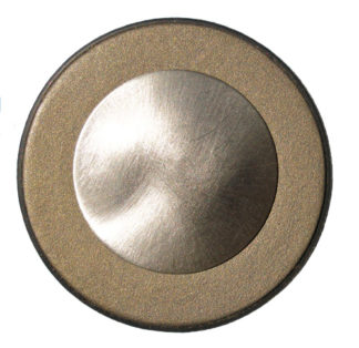 Photo of a gold nickel resonator