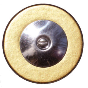 Photo of a pure gold sax pad